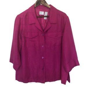 Emma James By Liz Claiborne pink blazer 18w linen